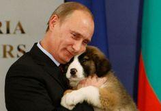 Poet-in met puppy