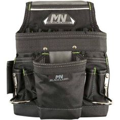 Rooster Products International McGuire-Nicholas Black Label Nail and Tool Pouch, Black