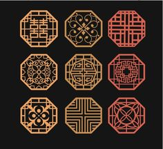Chinese Culture, Chinese Art, Chinese Style, Chinese Element, Decorative Lines, Chinese Patterns, Asian Design, Asian Decor, Art File