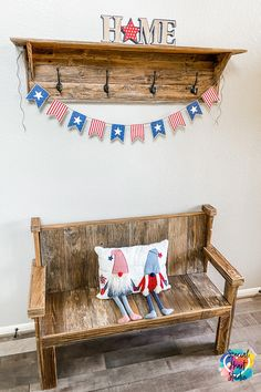 Learn how quick and easy it is to create this fun Americana-style patriotic banner with your Cricut, Silhouette, or Scan N Cut to add fun decorations to your home. Free instant download in SVG and DXF format. #freesvg #fourthofjuly #cricut #homedecorations #patriotic Patriotic Party, Perfect Party, Fourth Of July, Independence Day, Memorial Day, Cutting Files, Decorating Your Home, Party Favors, Banner