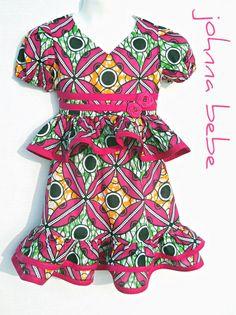 Girls African Dress Size 4T  8 Children's African by johnnabebe, $45.00