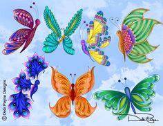"In My World - ""Lunar Butterflies Collection"" - by Debi Payne Designs"