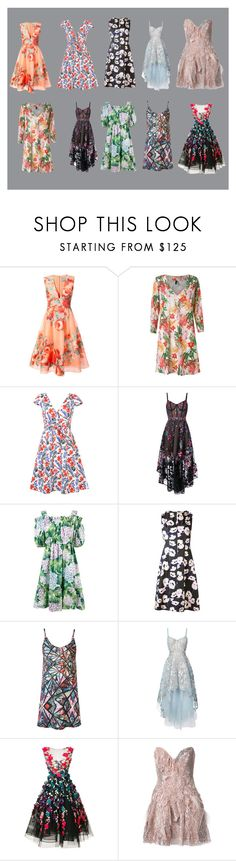 """florals"" by ramakumari ❤ liked on Polyvore featuring Lela Rose, Lygia & Nanny, Carolina Herrera, Notte by Marchesa, Dolce&Gabbana, Marni, Marchesa and Trash-Couture"