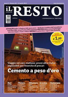 La copertina del n. 20 del settimanale iL Resto - è possibile scaricare la copia in formato elettronico all'indirizzo www.ilresto.tv/archivio