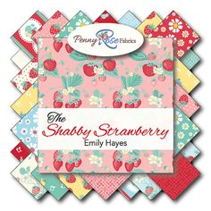 Shabby Strawberry 20 10 Squares Bundle for by DesiredTreasures