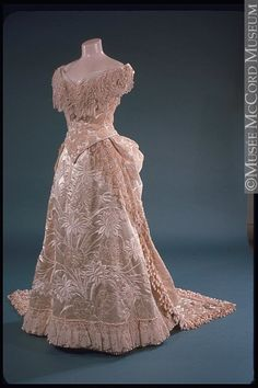 Beautiful 1886 evening gown