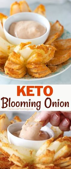 A low carb and low calorie version of the steakhouse classic— this Keto Blooming Onion is a guilt-free indulgence! Paleo & gluten free too! Click for video.