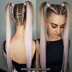 Top 36 Short Blonde Hair Ideas for a Chic Look in 2019 - Style My Hairs Ponytail Hairstyles, Pretty Hairstyles, Girl Hairstyles, Teenage Hairstyles, Afro Ponytail, Quick Braided Hairstyles, Ethnic Hairstyles, Weave Hairstyles, Rave Hair