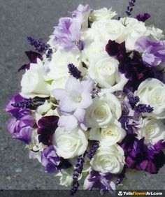 Purple & white bouquet