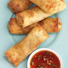 These Baked Spring Rolls are the perfect party appetizer.