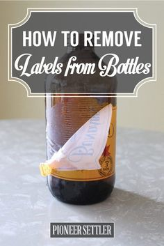 Check out How to Remove Labels From Bottles With Ease at http://pioneersettler.com/remove-labels-bottles-diy/