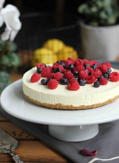 Lemon Berry Cheesecake by Butter Baking | Made From Scratch