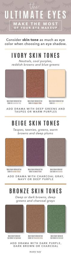 EYE #MAKEUP COLOR cheat sheet! High-impact color in one swipe with a natural, #luminous finish that looks gorgeous on any skin tone. Mary Kay® Mineral Eye Color comes in 30 beautiful shades to mix and match! Find them all at https://www.marykay.com/mvillavicencio1   Not ready to purchase? Order your FREE #MaryKay Beauty Catalog (choose either paper or digital or both!) by emailing pamperinginpink@gmail.com to register send a message with your name, email + address.
