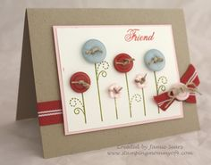 Papertrey Button Flowers