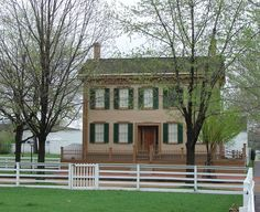 Lincoln Home National Historic Site preserves the Springfield, Illinois home and a historic district where Abraham Lincoln lived from 1844 to 1861, before becoming the 16th President of the United States.  It is the only home he owned.