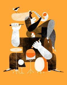 'Jazz+Manouche'+by+Maria+Corte+Maidagan+on+artflakes.com+as+poster+or+art+print+$16.63