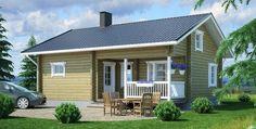 Hirsimökki Kianta 52s (tiny house for families in colder climate)