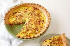 Make this Potato & Bacon Quiche with sliced new potatoes, crumbled bacon and more. This potato-bacon quiche is a hearty dish for the brunch crowd. Kraft Recipes, Kraft Foods, What's For Breakfast, Breakfast Dishes, Breakfast Recipes, Quiche Recipes, Brunch Recipes, Dinner Recipes, Quiches