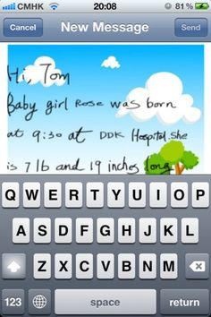 Add a personal touch to kids' emails/writing with Artmail, an app for writing and sending handwritten notes.