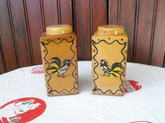 Vintage WoodPecker Wood Ware Handpainted Made in by peacenluv72, $16.50