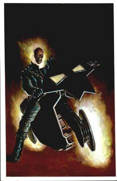 Ghost Rider by Mark Texeira  This is THE bike! Don't mess with it. Movie execs and all the concept designers made that mistake for the last too movies. Come on people learn here. lol.