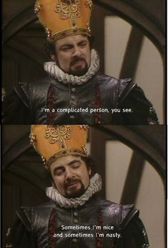 Game of Adders Black Part 2 - Blackadder meets Game of Thrones Continuing last week's Blackadder and Game of Thrones mashups, here's some more great images of the two legendary shows combined. A Game of Adders Black. British Tv Comedies, British Comedy, Comedy Quotes, Film Quotes, Comedy Series, Comedy Tv, Welsh, Blackadder Quotes, Mr Bean Funny