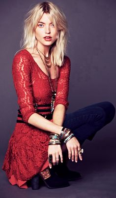 Red on Free People