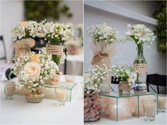 A decoração do casamento de Laura e Roger