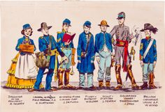 Original illustration by John Severin of the EC Comics gang in... Original illustration by John Severin of the EC Comics gang in Civil War constumes from Squa Tront #9 published byJerry Weist 1983.