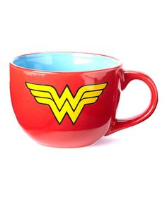 Serve up satisfying soup or a colossal coffee in this superhero-sized mug. The vivid color and bold logo make this piece an uplifting gift for friends, family and fans of all ages.