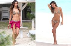 Lily Aldridge y Edita Vilkeviciute posan en las playas de San Bartolomé con las nuevas tendencias de baño #models #trends