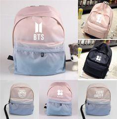 KPOP BTS Backpack Bangtan Boys Wings Shoulder Bookbag Student Back to School Bag  | eBay