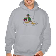 Donald Throwing a Snowball Hooded Sweatshirts