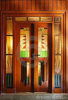 Art Deco door, France