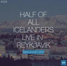 Half of all Icelanders live in Reykjavik. #traveltrivia