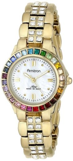 1dd537c8aa7 Care how you look  Armitron rainbow watch with Swarovski crystals. For more  info click · Pulseira De RelógioRelógios ...