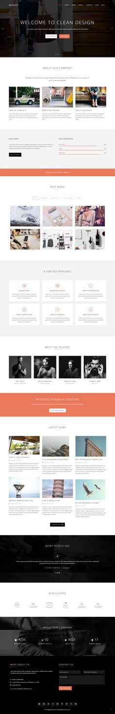 Modesty is clean and clear Multipurpose One Page WordPress Theme. With a elegant and #minimal design it suits well for personal #portfolio site, creative agencies & multi purpose usage for different #business sites.
