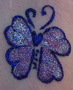 Just a fun one. Obviously permanent glitter tattoos don't exsist.