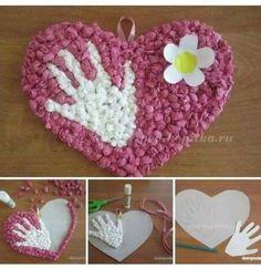 Frog Crafts, Cute Crafts, Preschool Crafts, Spring Crafts For Kids, Paper Crafts For Kids, Autumn Crafts, Valentines Art For Kids, Valentine Day Crafts, Grandparents Day Crafts