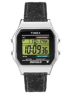 Shop for Timex Unisex Classic Digital Black Denim Strap Watch. Get free delivery On EVERYTHING* Overstock - Your Online Watches Store! Timex Watches, Big Watches, Sport Watches, Watches For Men, Limited Edition Watches, Online Watch Store, Unisex, Vintage Watches, Digital Watch