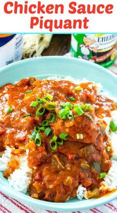 Creole Recipes, Cajun Recipes, Chicken Recipes, Cooking Recipes, Cajun Food, Chicken Creole Recipe, Dishes Recipes, Turkey Recipes, Chicken Sauce Piquant Recipe