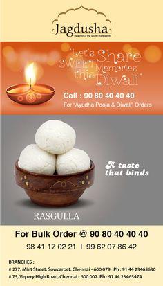 Enjoy the True taste of Rasgulla with Jagdusha Sweets & Savories. . .It's time to taste. . .