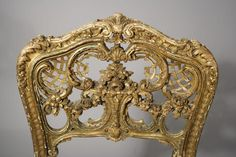A Louis XV French Rococo Carved and Gilt Side Chair More Pins Like This At FOSTERGINGER @ Pinterest