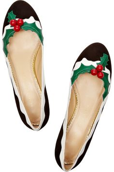 #CharlotteOlympia #Holly flats! The most holiday-appropriate shoe ever seen? #THEOUTNET