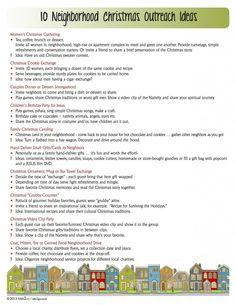 10 Neighborhood Christmas Outreach Ideas