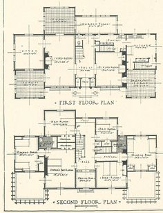 1917 architectural design for a white pine house costing 12,500 dollars at the time. scan #3