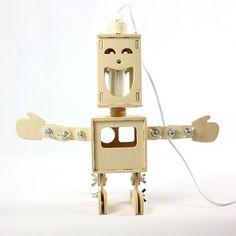 DIY Double Face Robot Lamp