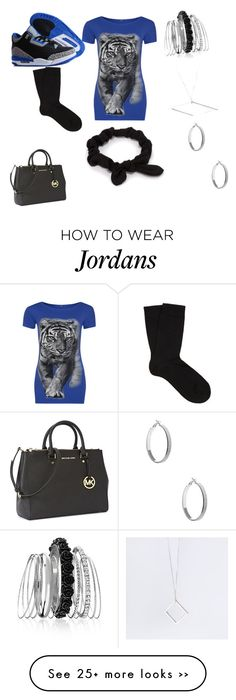 """""""Untitled #73"""" by jessicamccray on Polyvore featuring WearAll, NIKE, Falke, Avenue, B KREB, GUESS, Michael Kors and NLY Accessories"""