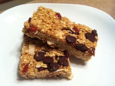 My new favorite granola bar recipe!
