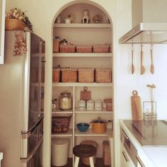 "Figure out additional information on ""laundry room storage shelves"". Look at our web site. Kitchen Dinning, Kitchen Pantry, Kitchen Decor, Laundry Room Storage, Kitchen Storage, Small Storage, Storage Spaces, Storage Shelves, Kitchen Interior"
